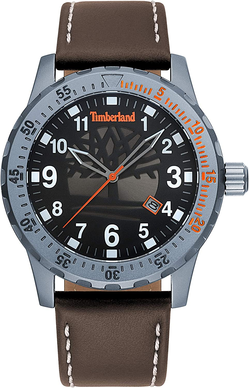 Timberland Reloj Analógico para Hombre de Cuarzo con Correa en Cuero TBL.15473JLU/02