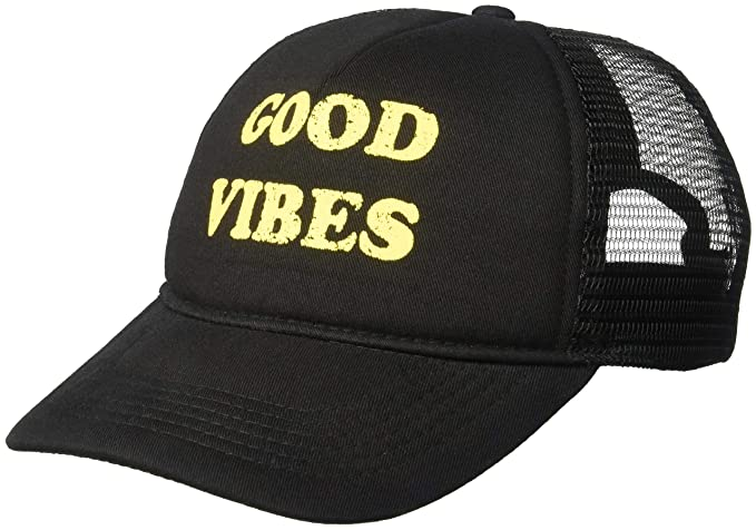 b8bbafc38 Brooklyn Cloth Women's Good Vibes Trucker Hat Mesh Back Baseball Cap ...