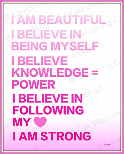 Amazoncom Inspirational Art Girly Girl Quote Print Motivational