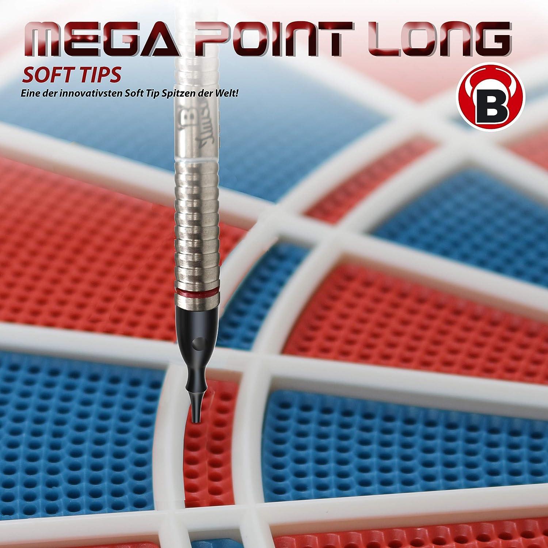 100 BULLS Erwachsene Schwarz Mega Point Tips Lang 6mm 100s