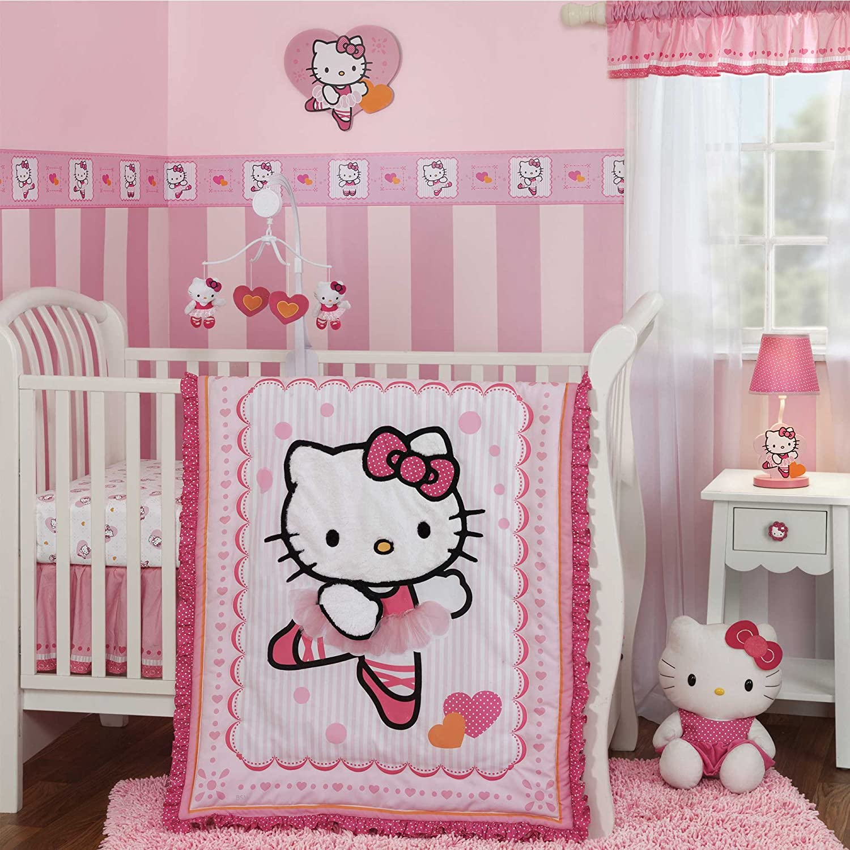 Hello kitty crib for sale - Amazon Com Bedtime Originals Hello Kitty Ballerina 3 Piece Crib Bedding Set Discontinued By Manufacturer Baby
