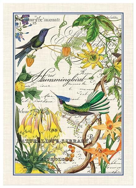 Michel Design Works Hummingbird Cotton Kitchen Towel, Multicolor