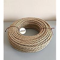 Cable eléctrico trenzado revestido de tela -Color yute