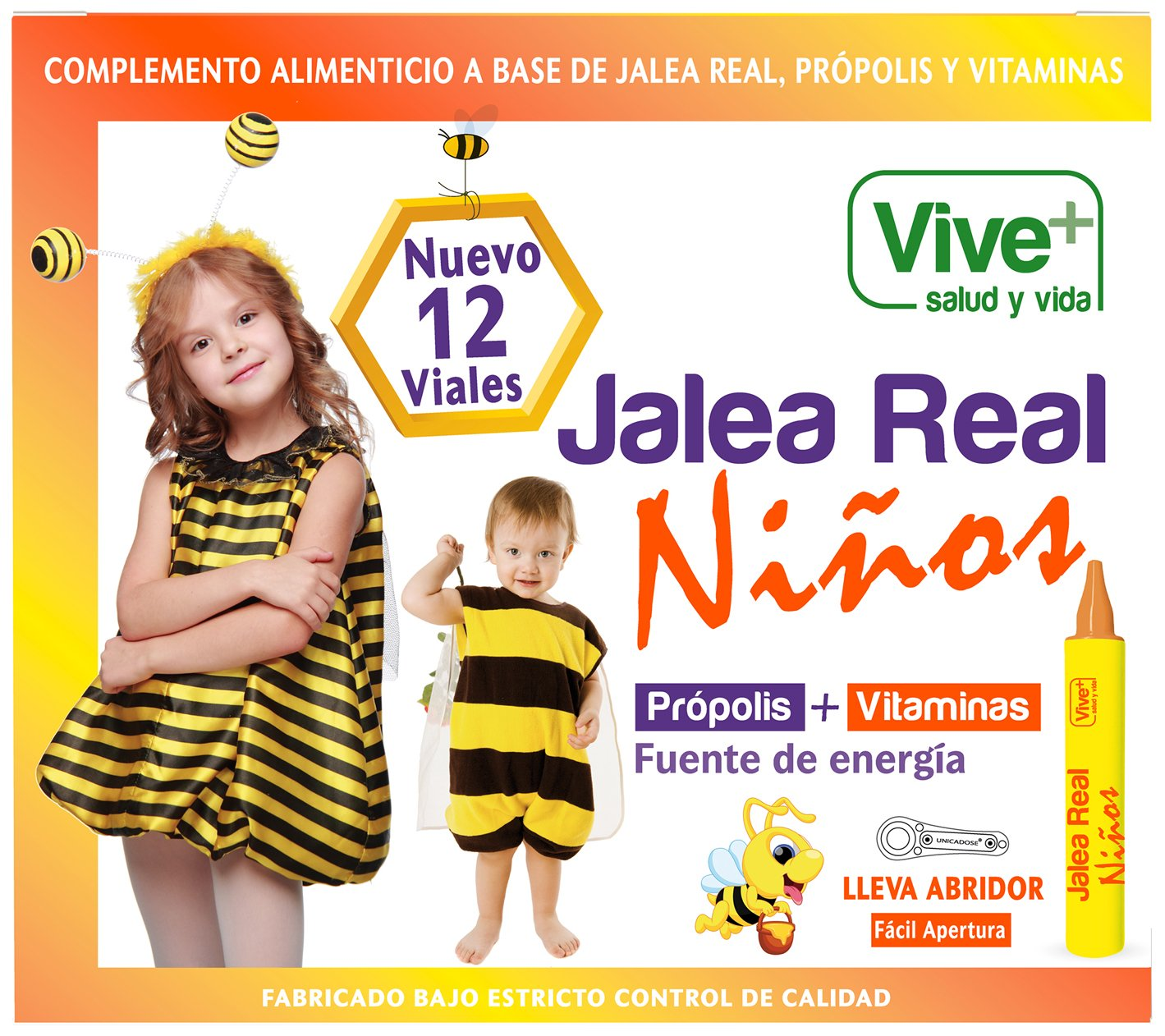 Vive+ Jalea Real para Niños - 12 Unidades: Amazon.es: Salud y ...
