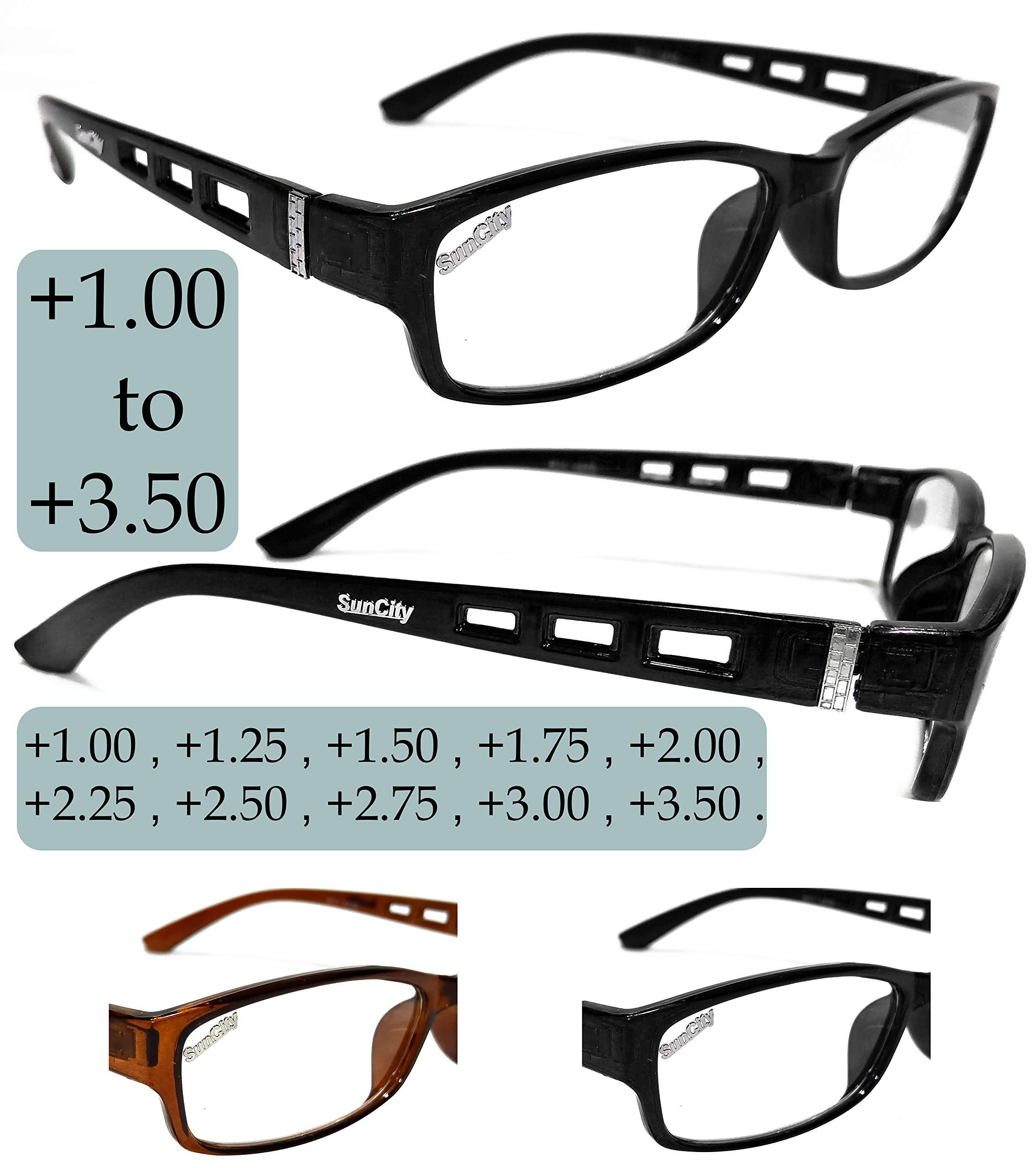 Sun City Reading Glasses Eye Wear for Men and Women   Power ...