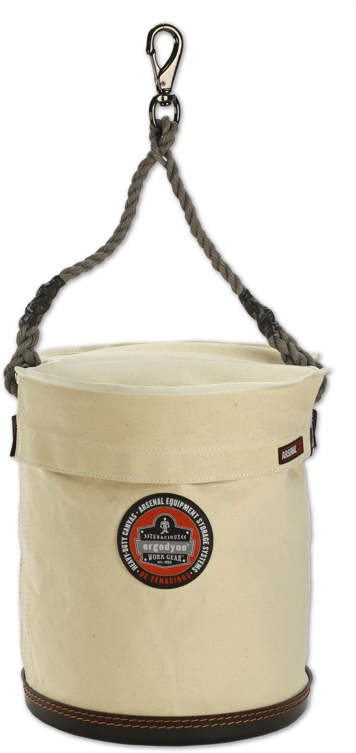 Ergodyne Arsenal 5743T Plastic Bottom Tool Bucket with Cover, 12.5'', 15''H