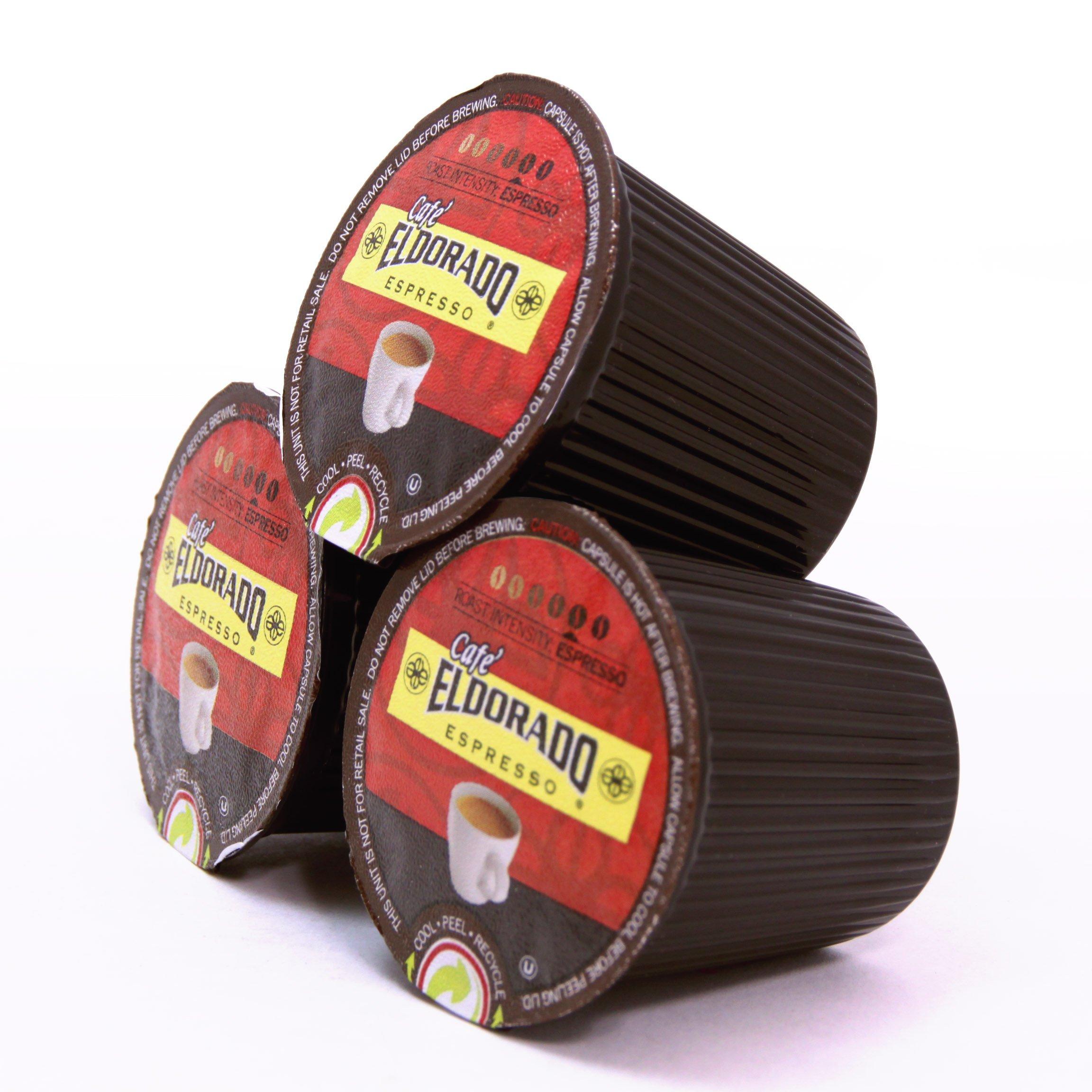 Eldorado Coffee Roasters Coffee Pods Espresso  K Cups for Keurig Home Brewers, 96 Single Serve Capsules