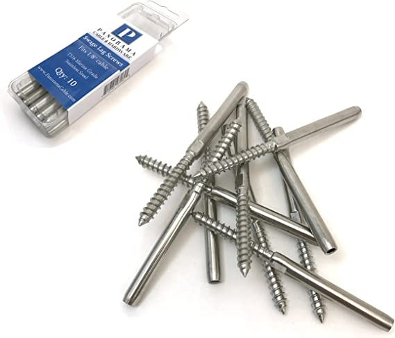 40 Pack Swage Lag Screws Left/&Right for 1//8 inch Cable Railing System Stai U7M1