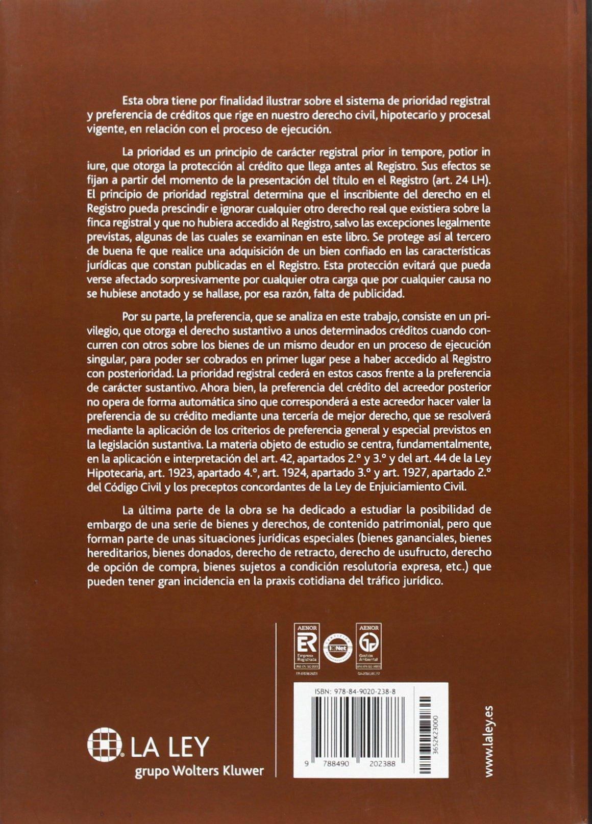 Proceso de ejecución y registro de la propiedad Temas La Ley: Amazon.es: José María Rifá Soler: Libros