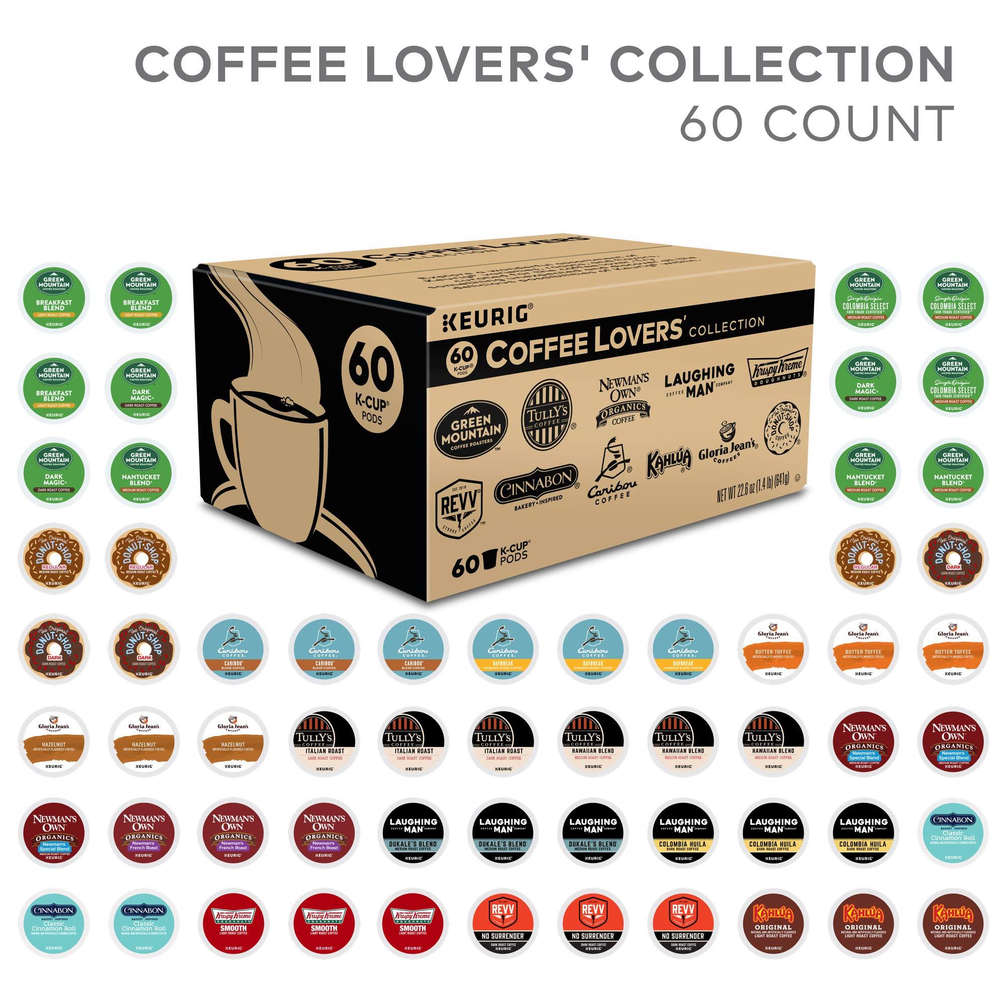 Keurig Coffee Lovers' Collection, Single Serve Coffee K-Cup Pod, Variety, 60 by Keurig