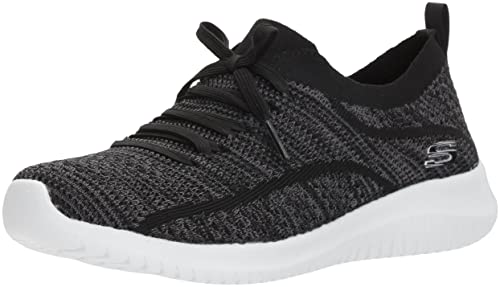 Skechers Ultra Flex-Statements, Sneaker Donna, Nero (Black/Grey),