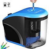 Electric Pencil Sharpener, Taoying Pencil Sharpener Heavy Duty Helical Sharpeners for Office School Classroon Kids Artists.Ultra-Portable,USB/Battery Operated for No.2 and Colored Pencilds
