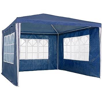 TecTake Tonnelle Tente Gazebo Pavillon de jardin d\'événement bière pour  fête de camping avec parties latérales - diverses couleurs au choix - (blue    ...