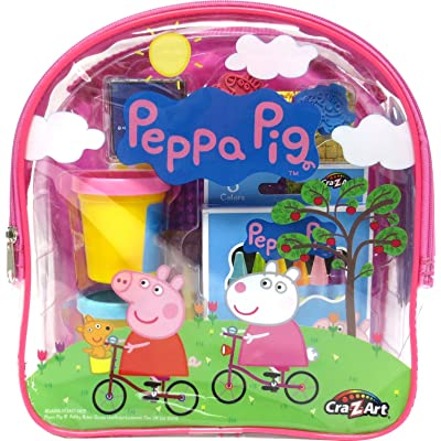 Cra-Z-Art 21018 Peppa Pig Ultimate Activities Backpack Building Kit, Assorted Color: Toys & Games