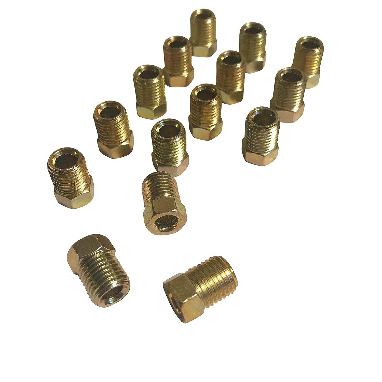 ASD Brake Line Tube Nuts For 3//16 Tube 3//8-24 Thread, Inverted Flare Pack of 15