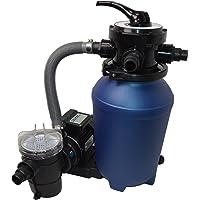 SPIRATO SPLASH 250 Kit de filtration à sable piscine filtre à sable avec pompe 8 m³ et préfiltre