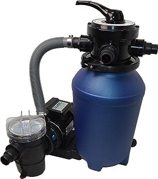 Splash 250 - Sistema de filtro de arena para piscinas con bomba de 8 m³ y prefiltro: Amazon.es: Jardín