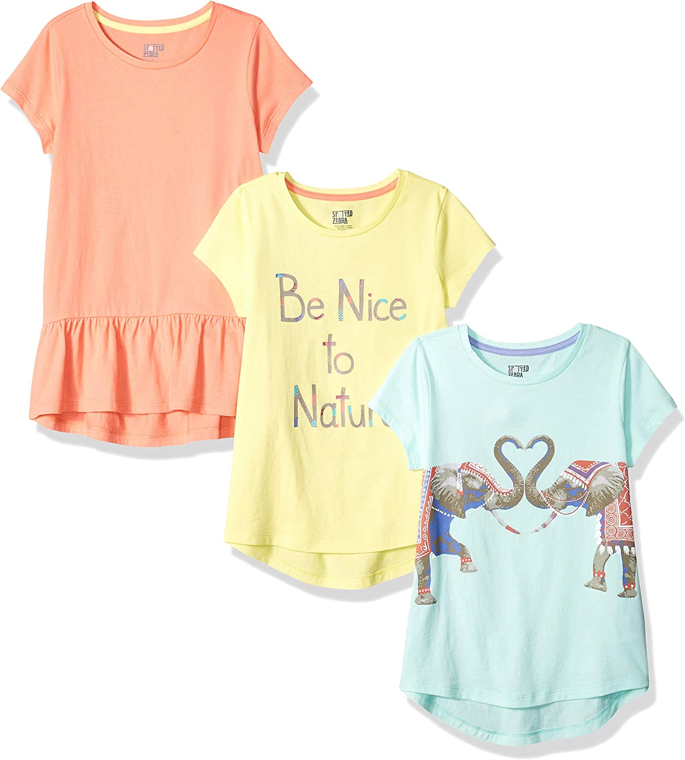 Girls Top Tunic T Shirt Yellow Super Star Short Sleeve Tee Kids 4 5 6 6X New Tag