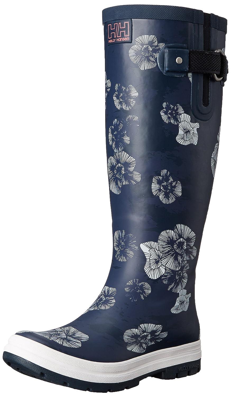 Helly Hansen Women's Veierland 2 Graphic Rain Boot B01618D4S4 8 B(M) US|Navy / Evening Blue / Off White