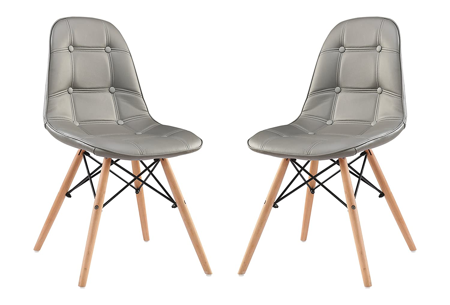 classico replica eames style dining chair gray pack of 2. Black Bedroom Furniture Sets. Home Design Ideas