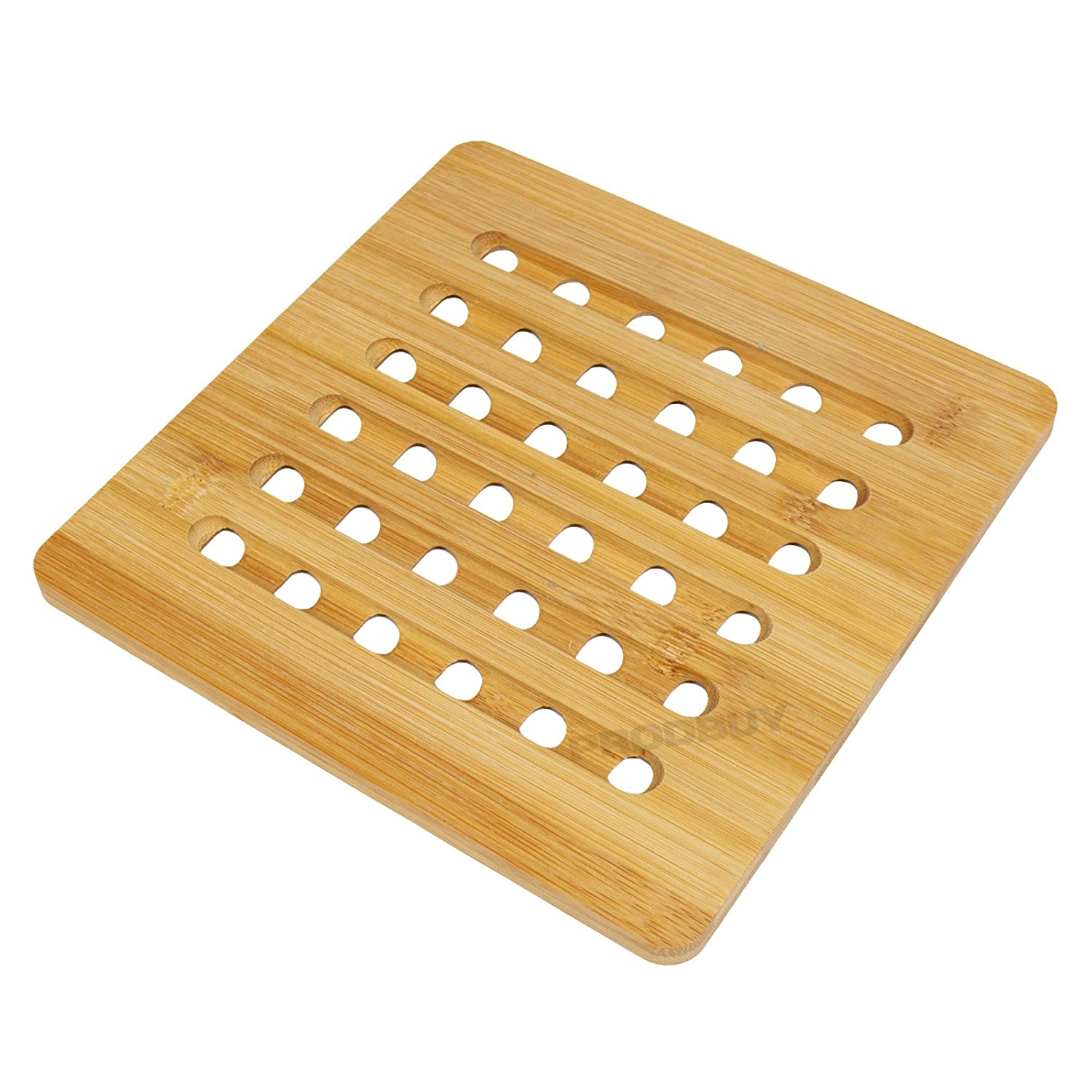 20cm x 20cm Square Bamboo Kitchen Trivet ProdBuy Limited