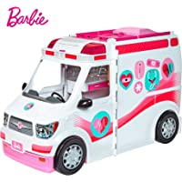 Barbie Ambulancia Hospital 2 en 1, accesorios