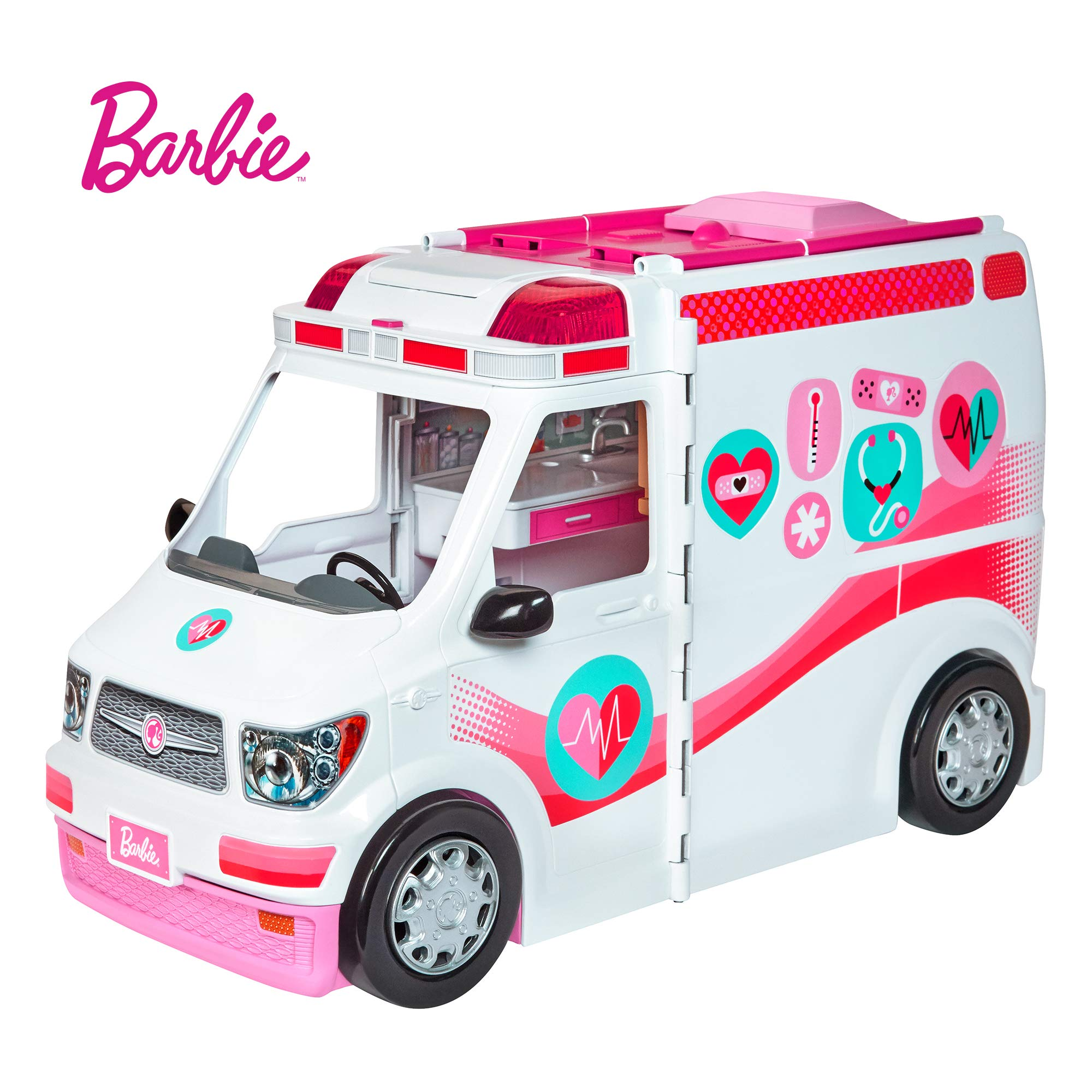 Amazon.es: Barbie Ambulancia Hospital 2 en 1, accesorios de ...