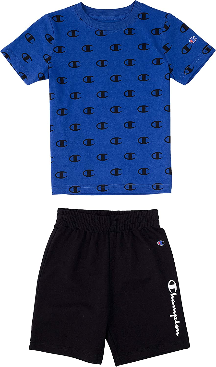 Champion Little Boys 2-7 Short Sets Mesh and French Terry Shorts