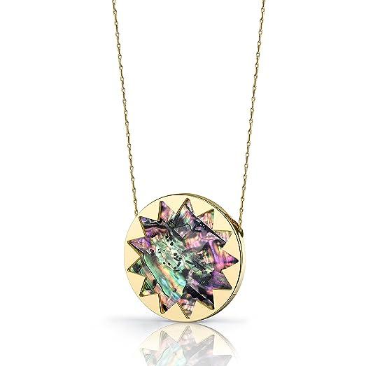 Amazon house of harlow large sunburst pendant necklace with house of harlow large sunburst pendant necklace with abalone mozeypictures Gallery