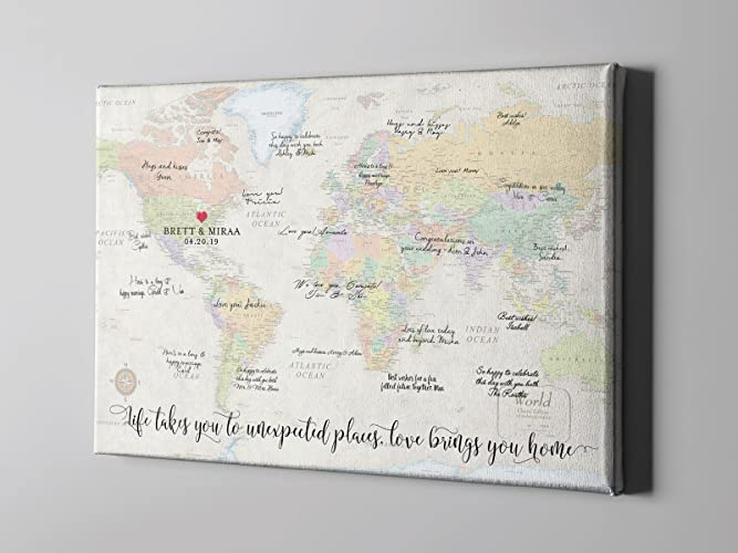 Amazon sale 50 off canvas guest book world map guest book sale 50 off canvas guest book world map guest book travel themed guestbook gumiabroncs Image collections