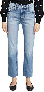 product image for MOTHER Women's The Scrapper Cuff Ankle Fray Jeans