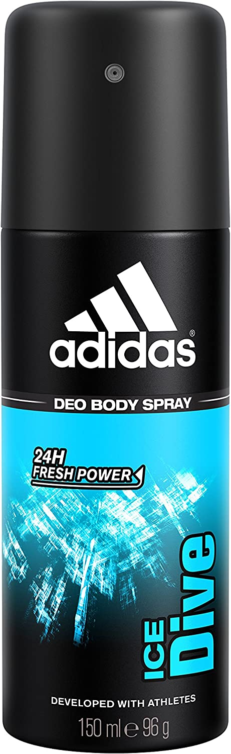 adidas Ice Dive Deodorant Spray for Men, 5 Ounce