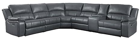 Amazon.com: Homelegance - Sofá reclinable, Cuero: Kitchen ...