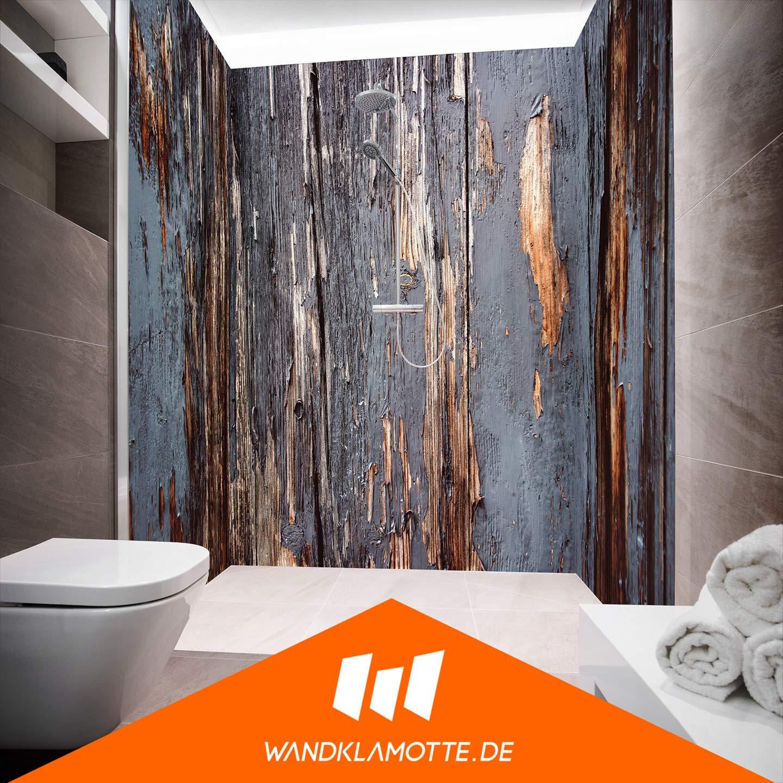 3 Panels ( U-shape) 90 x 230 cm Shower Back Panel Aluminium Composite Panels as Single Panel or Panel Set for Corner Showers Cut to Size – Destroyed Shack Motif