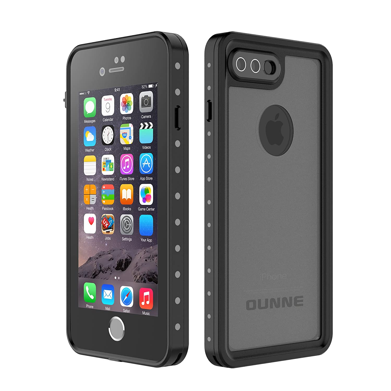 competitive price d3932 ffb32 iPhone 7 Plus/8 Plus Waterproof Case, OUNNE Underwater Full Sealed Cover  Snowproof Shockproof Dirtproof IP68 Certified Waterproof Case for iPhone 7  ...