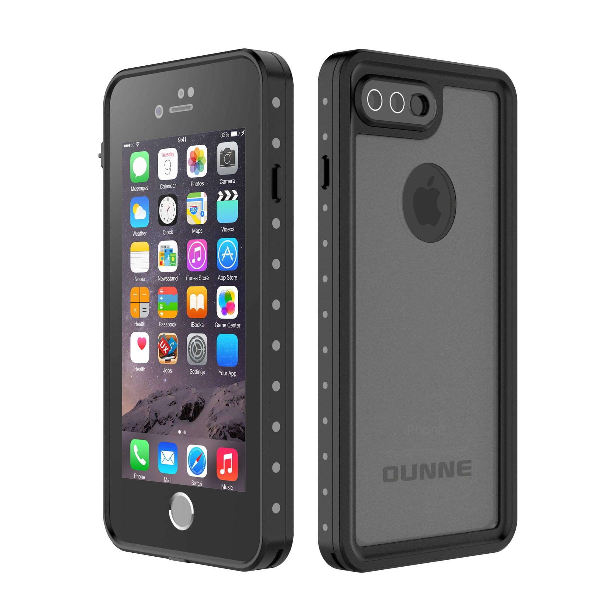 iPhone 7 Plus/8 Plus Waterproof Case, OUNNE Underwater Full Sealed Cover Snowproof Shockproof Dirtproof IP68 Certified Waterproof Case for iPhone 7 Plus/8 Plus 5.5inch