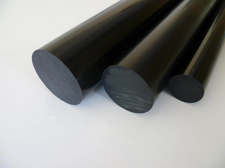 L/änge ca 0.5 mtr. 500 mm +//- 5 mm B/&T Metall POM Natur//wei/ß Rundstab /Ø 30 mm Durchmesser mit Plustoleranz