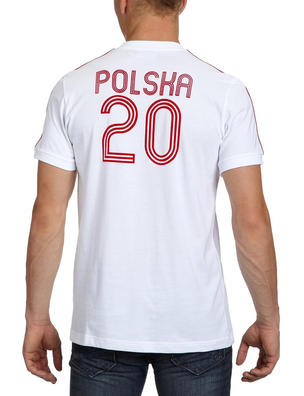 adidas Herren T Shirt E12 Poland, white, S, X27994: Amazon