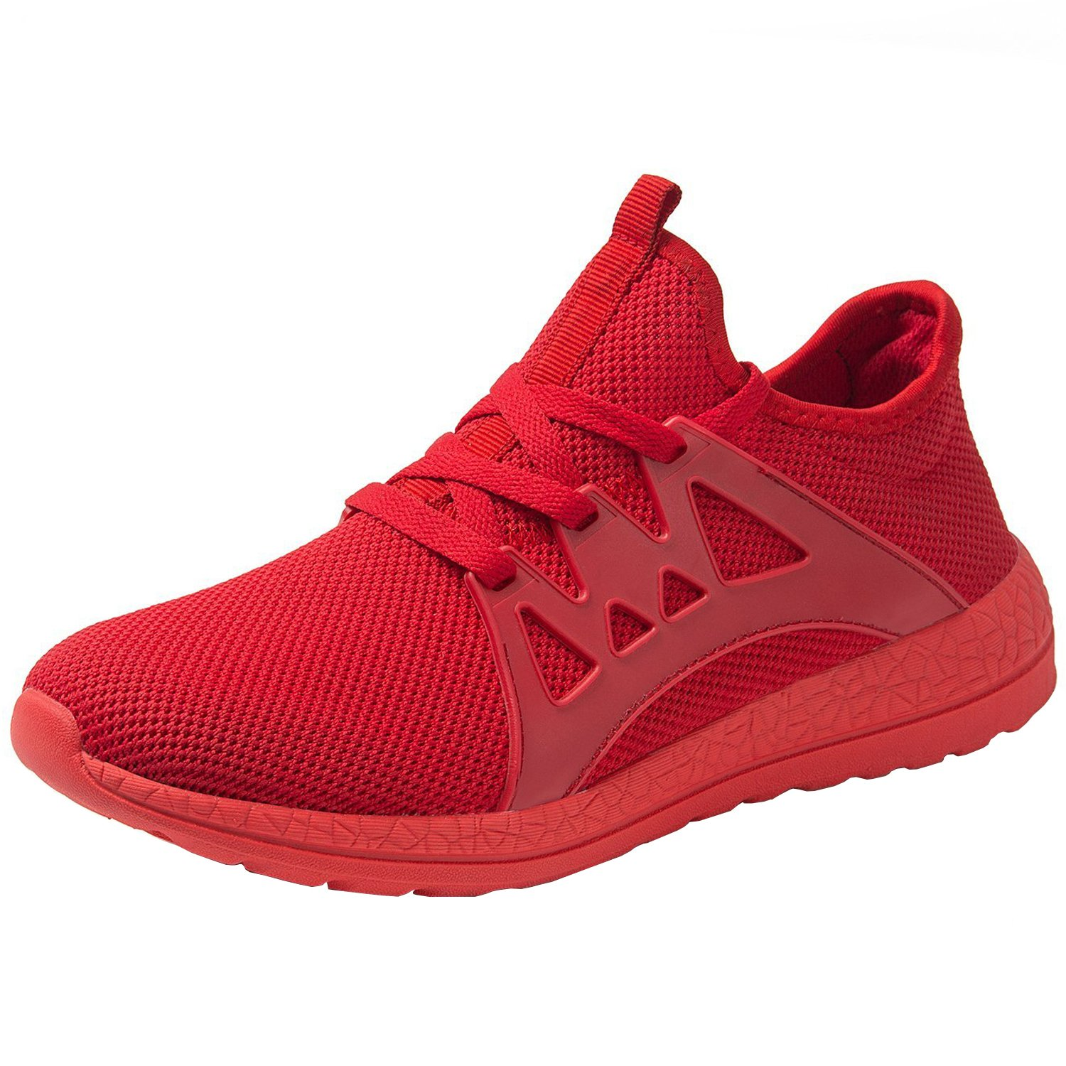 RomenSi Men's Mesh Lightweight Running Shoes Casual Breathable Athletic Tennis Walking Sneaker US6.5-13.5 7 M US|Red