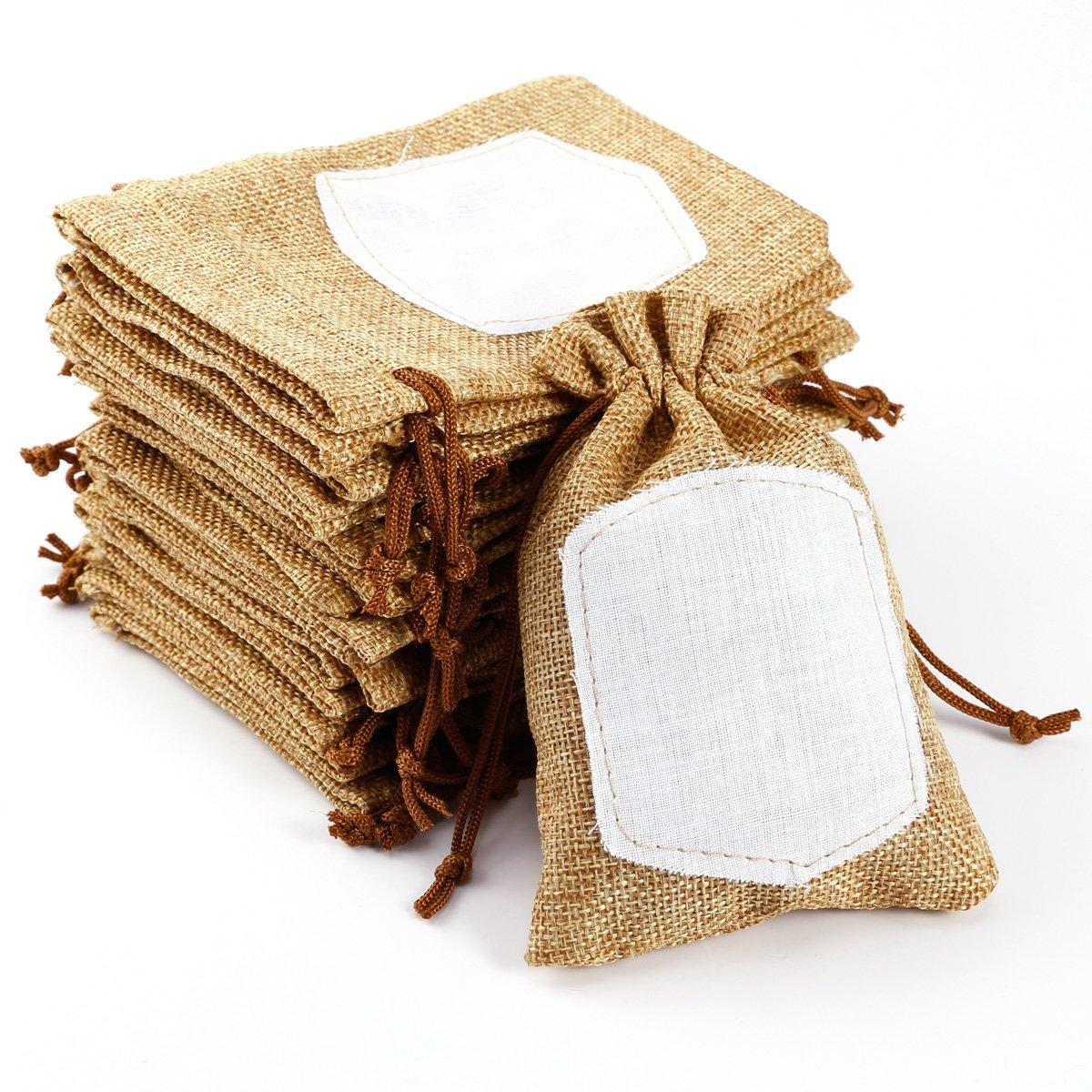 Bolsa arpillera favores de boda bolsa de arpillera rstica - Bolsitas de tela de saco ...