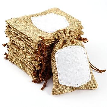 Bolsas arpillera bolsas de arpillera tu logo con manijas - Bolsitas de tela de saco ...