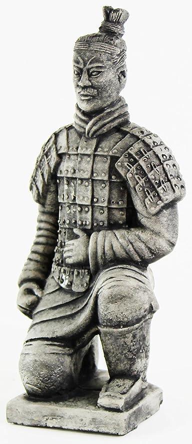 Chinese Warrior Concrete Asian Garden Statue Cement Figurine Sculpture