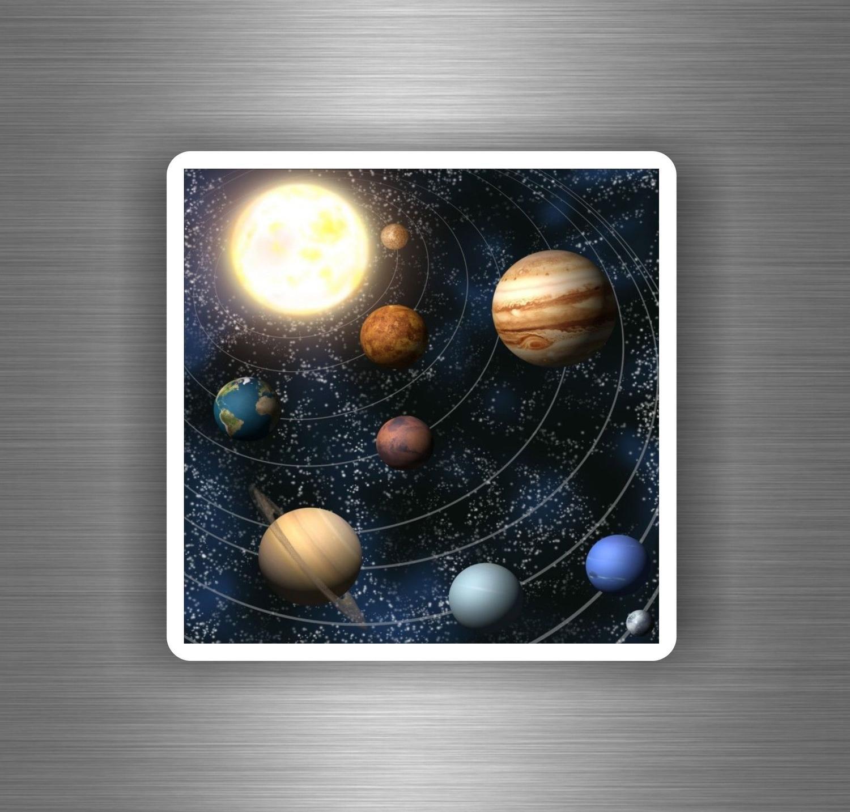 Autocollant sticker decoration mural etoile planete systeme solaire espace