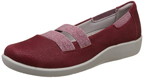 c0542876c47 Clarks Women s Sillian Rest Cherry Red Loafers and Moccasins - 3.5 UK India  (36