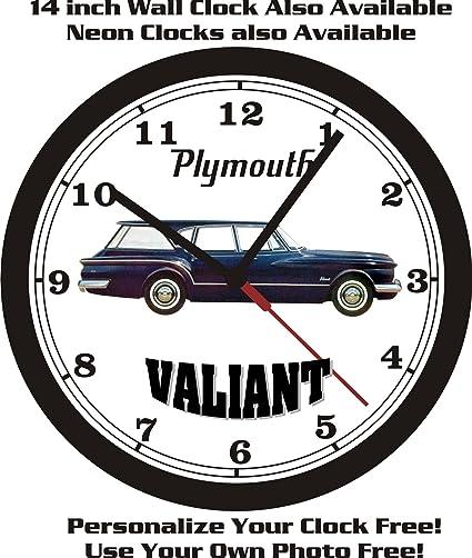 Amazon com: PLYMOUTH VALIANT STATION WAGON WALL CLOCK-FREE
