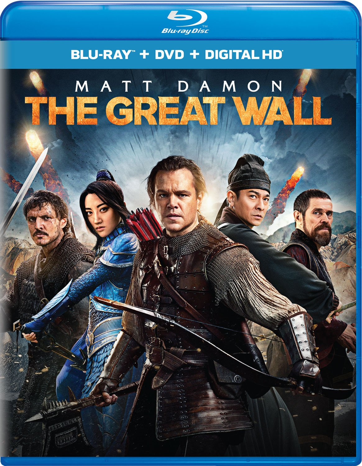 Blu-ray : The Great Wall (With DVD, Ultraviolet Digital Copy, 2 Pack, Digitally Mastered in HD, Digital Copy)