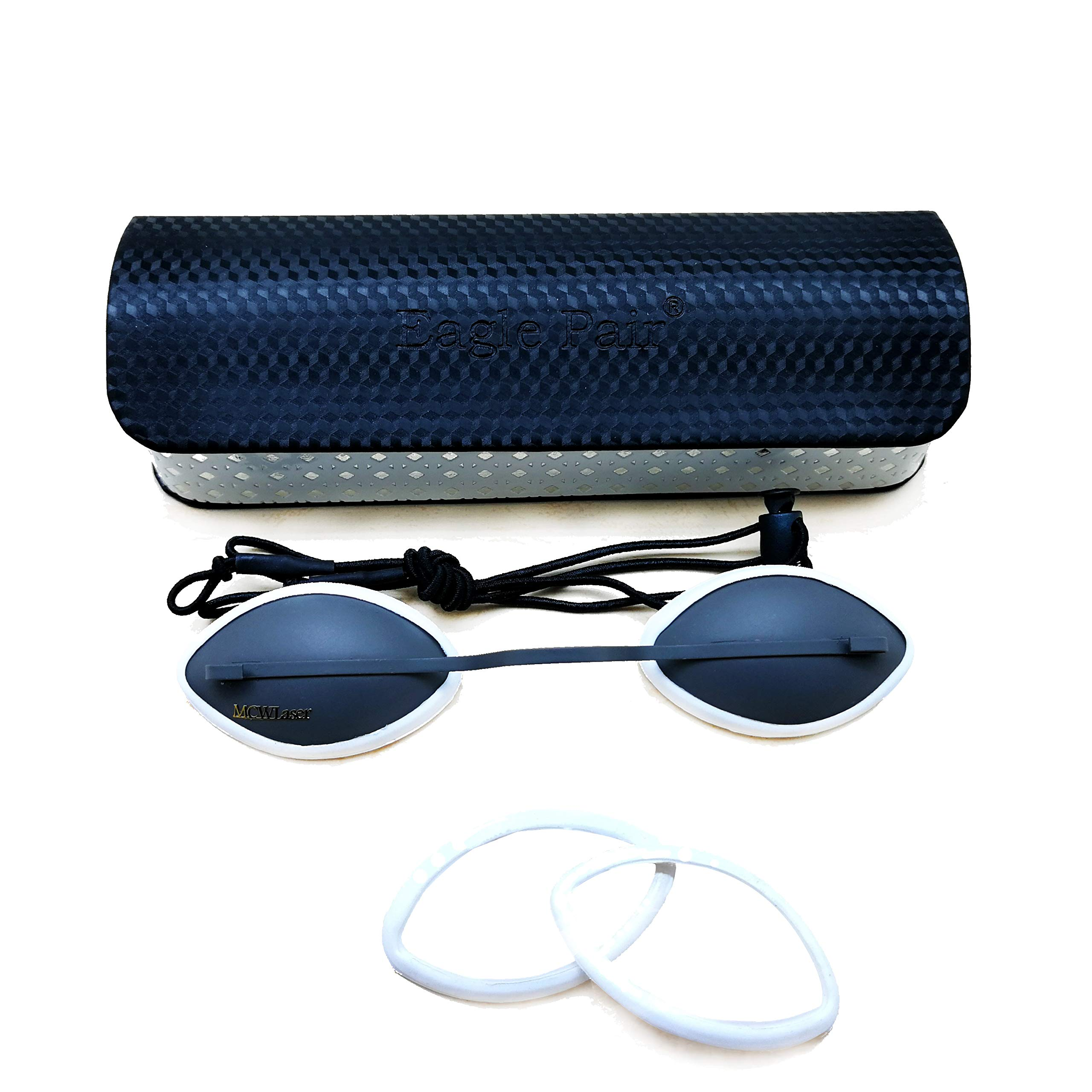 Cole OD7+ Eyepatch Glasses Laser Protection Safety Goggles IPL Beauty Stainless Steel