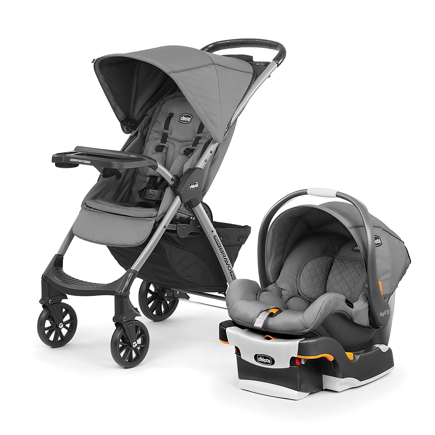 Chicco Mini Bravo Plus Travel System, Slate