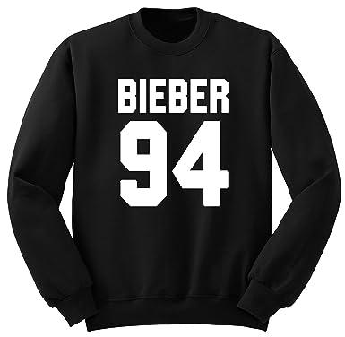 Justin Bieber / Bieber 94 / Justin Bieber Sudadera SW12 (M, Negro)