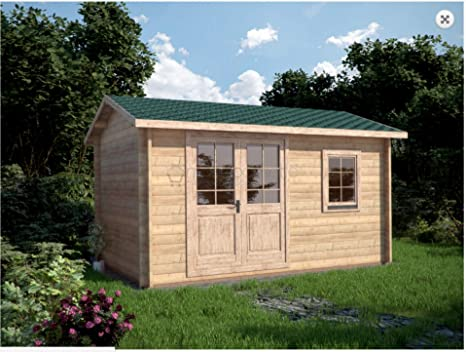 Mondocasette Casa Casa de Madera de jardín – Modelo Ula Grosor Paredes 45 mm 450 x